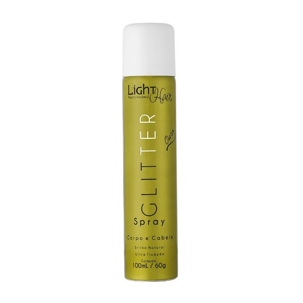 Spray Glitter Ouro Corpo e Cabelo Light Hair Professional