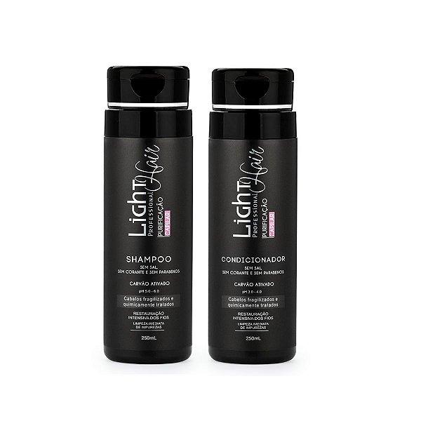 Shampoo + Condicionador Carvão Ativado