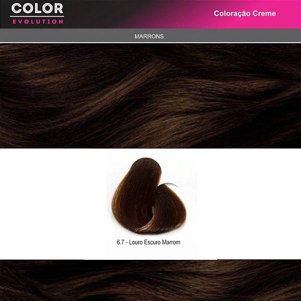 Coloração - 6.7 LOURO ESCURO MARROM CHOCOLATE