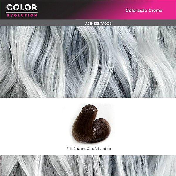 Coloração - 5.1 CASTANHO CLARO ACINZENTADO