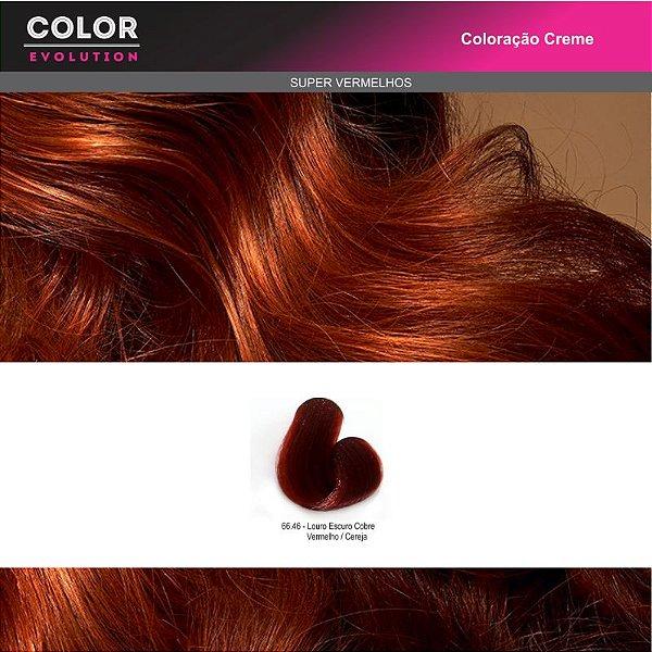 Coloração - 66.46 LOURO ESCURO COBRE VERMELHO/ CEREJA