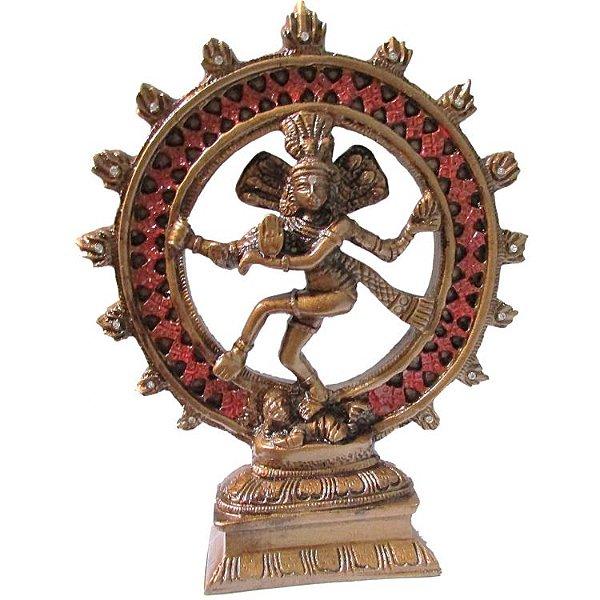 Estátua Shiva Nataraja - 20 cm - Resina