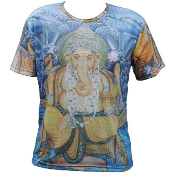Camiseta Indiana Lord Ganesha Azul
