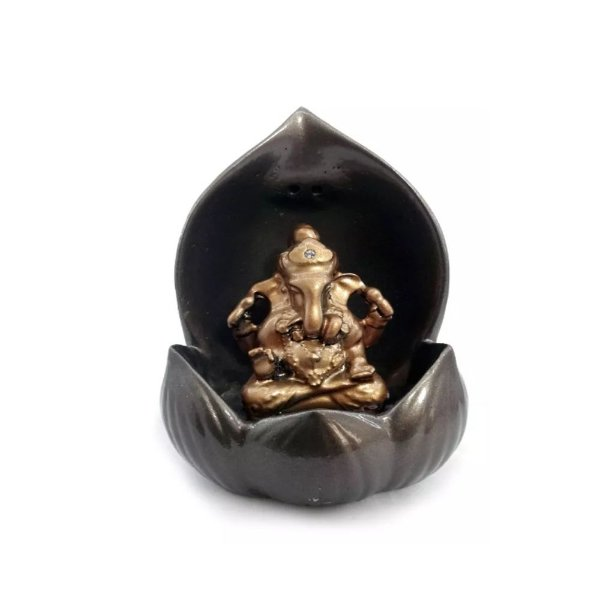 Incensário Cascata de Fumaça - Deuses Hindus + incenso Blackflow