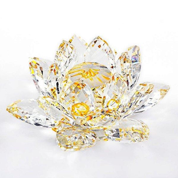 Flor de Lótus de Cristal - várias cores - 8 cm