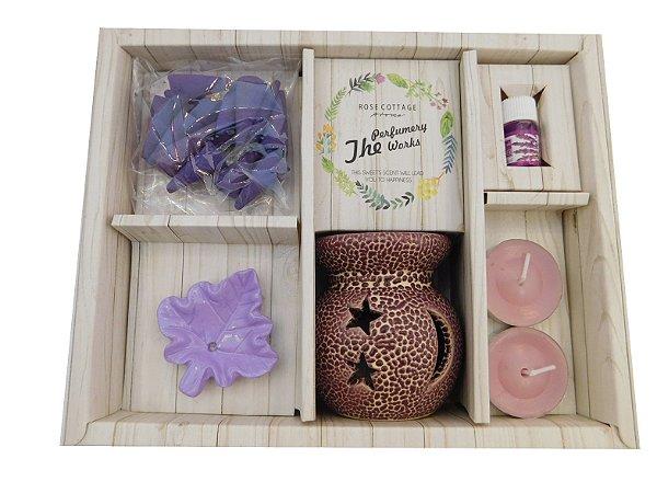 Kit aromaterapia com Difusor de aroma