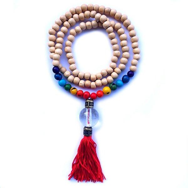 Japamala 108 contas - 7 chakras - Semente de açai