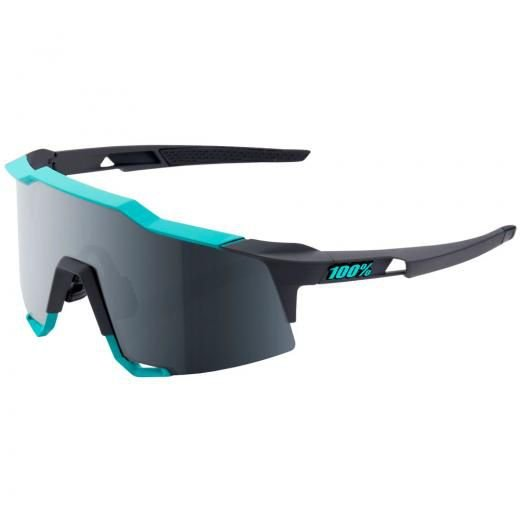 ÓCULOS DE CICLISMO 100%  SPEEDCRAFT CELESTE GREEN /CEMENT GREY