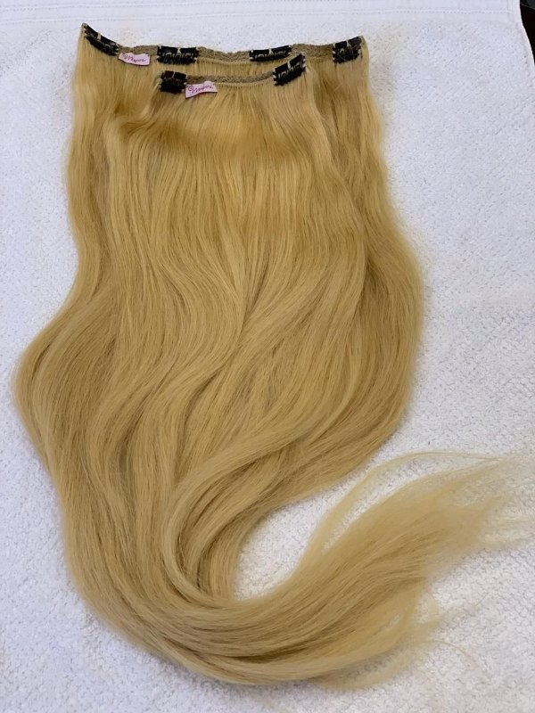 Mega hair tic-tac mispira ondulado - cor #22 loiro natural - humano