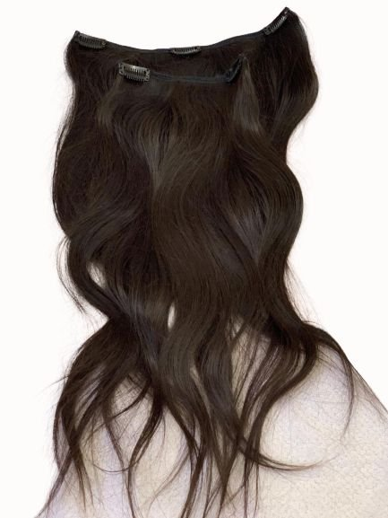 Mega hair tic-tac (2 faixas) mispira liso - cor #1b preto natural -  humano