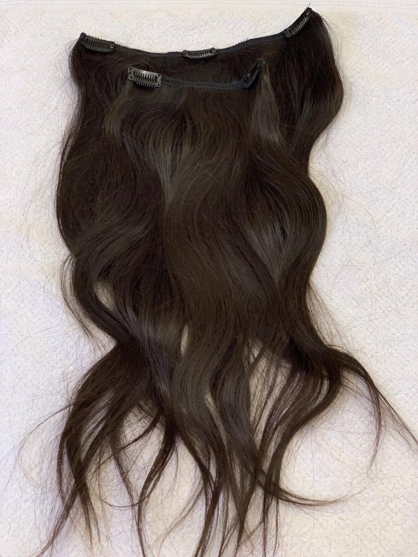 Mega hair tic-tac (2 faixas) mispira liso - cor #2 castanho natural - humano