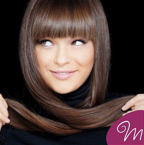 Franja SUPER PREMIUM cabelo humano #0 natural liso