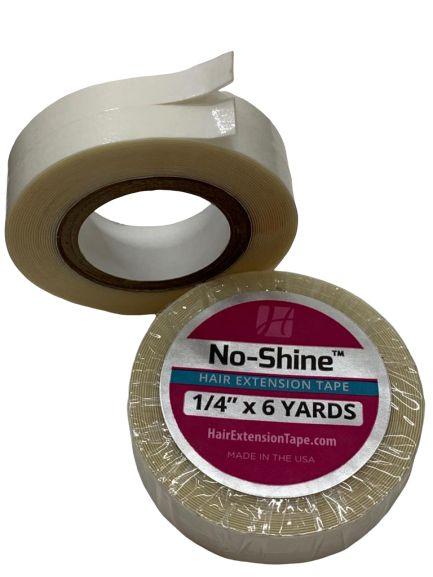Fita adesiva em rolo para mega hair e prótese capilar - branca no shine (sem brilho) – 5,48 metros 1,20cm (2 em 1)