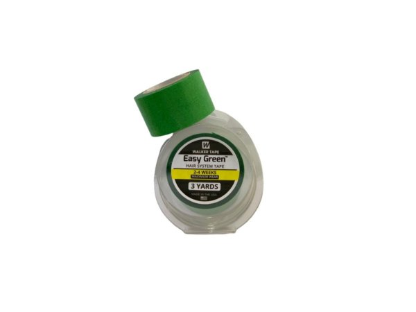 Fita adesiva rolo easy green verde para prótese capilar – 3 metros x 2,50 cm largura