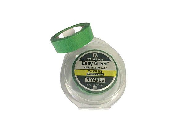 Fita adesiva rolo easy green verde para prótese capilar – 3 metros x 1,2 cm largura