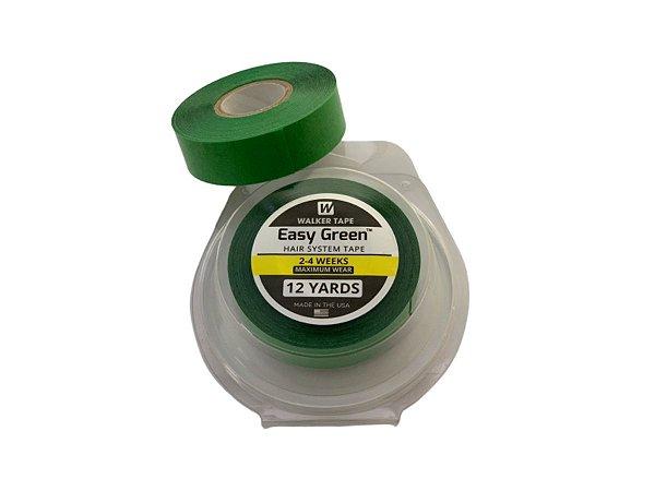 Fita adesiva rolo easy green verde para prótese capilar – 12 metros x 1,9 cm largura