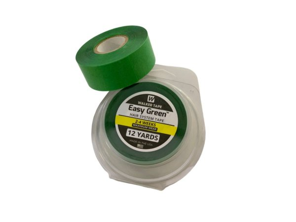 Fita adesiva rolo easy green verde para prótese capilar – 12 metros x 2,5 cm largura