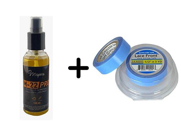 Fita Adesiva Para Mega Hair 3 X 1,2  + Removedor Cítrus M22