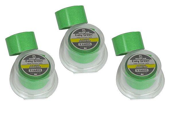 Combo 3 Fita Rolo Easy Green 3m X 2,5cm