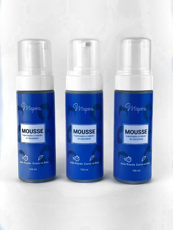 Kit 3 Mousses Inibidor e Higienizador De Oleosidade P/ Próteses e Lace Front