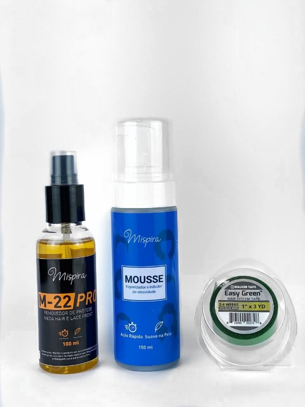 Kit Inibidor de Oleosidade + Removedor Cítrus M-22 + Fita Easy Green 3m x 2,5cm