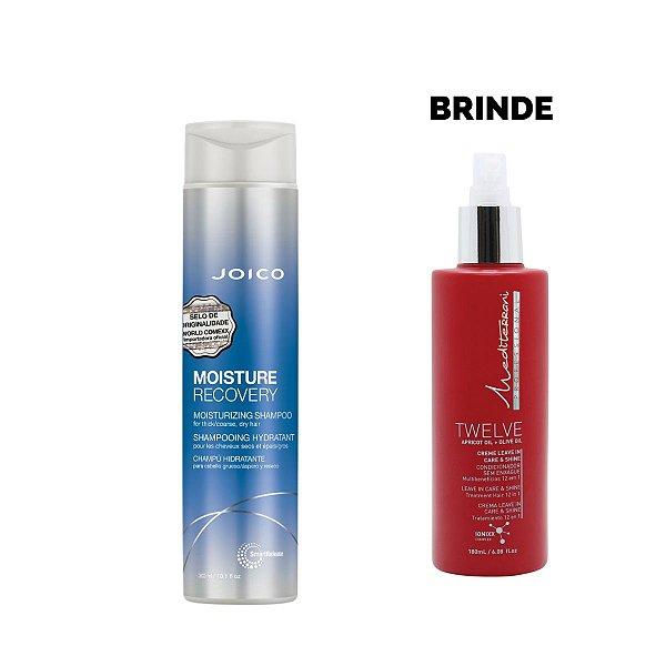 Shampoo Joico Moisture Recovery 300ml - Brinde Leave In Twelve Mediterrani 180ml