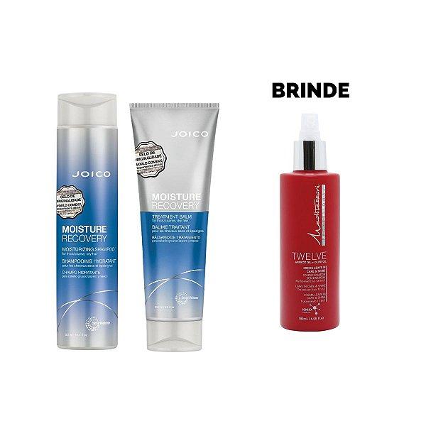 Shampoo 300ml + Máscara 250g Moisture Recovery - Brinde Leave In Twelve 180ml