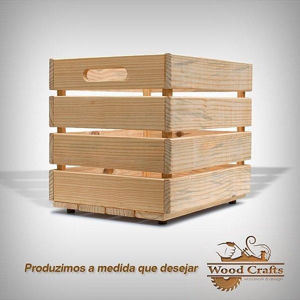 Caixote de Madeira - Wood Crafts - 50x40x45cm