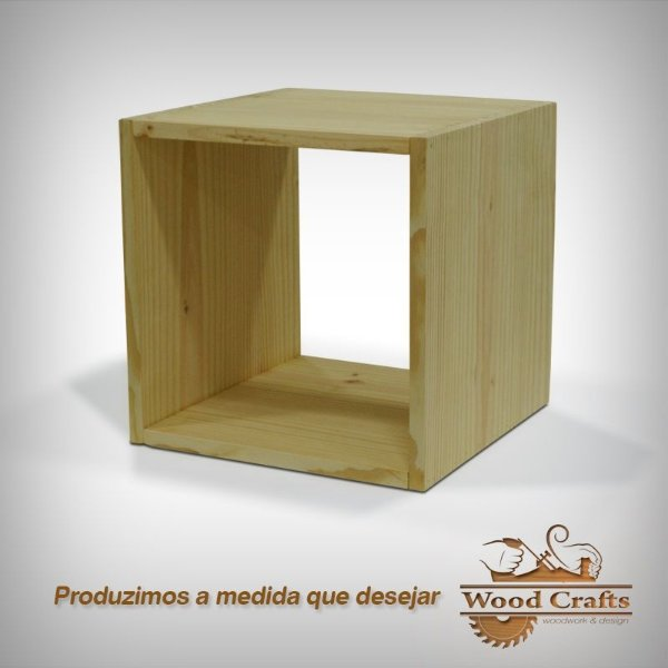 Nicho Decorativo para Vitrine - Wood Crafts - 40x40x40cm