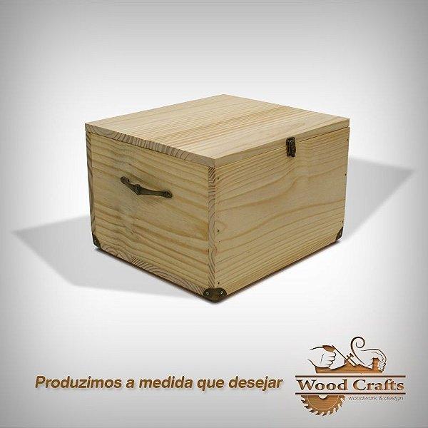 Baú de Madeira - Wood Crafts - 50x40x30cm