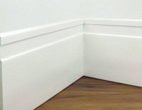 Rodapé Mdf Branco 10cm br. 2,40m - valor por ml- PROMOÇÃO