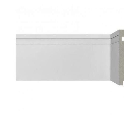 Rodapé Poliestireno Branco 10 cm - valor por ml