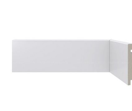 Rodapé Poliestireno Branco 7 cm LISO- valor por ml
