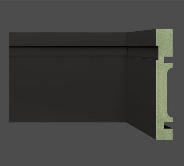Rodapé Mdf PRETO 10 cm br. 2,40 m - valor por ml-PROMOÇÃO
