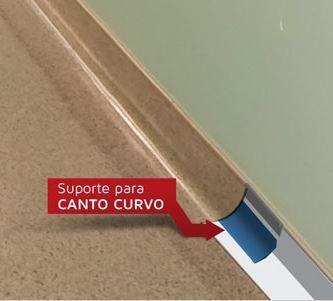 Suporte pvc canto curvo 2x2 cm / 40 mL