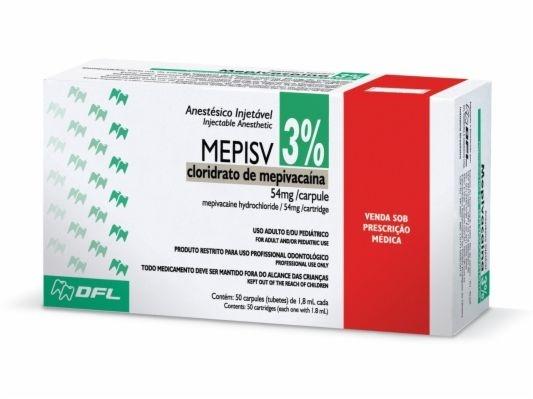 ANESTÉSICO MEPISV 3% SEM VASO - DFL