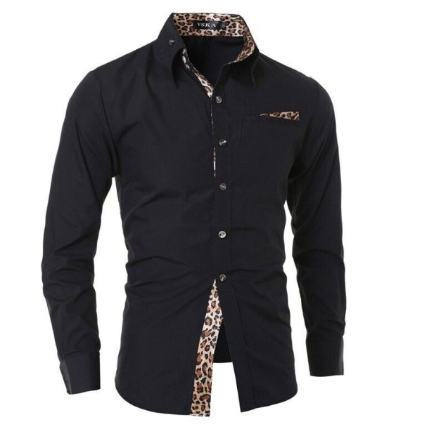 Camisa Social VSKA Leopard - Slim Fit - Masculina
