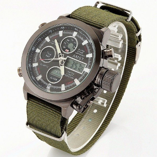 Relógio Amst Military Strap
