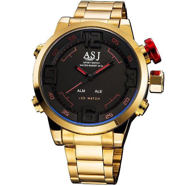 c6ea7e129b2 Relogio ASJ Dourado Digital - Dali Relógios