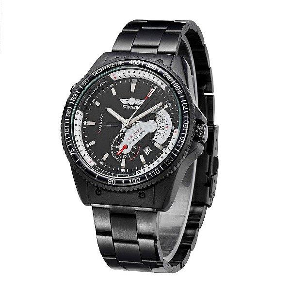 Relógio Winner Black Caliper