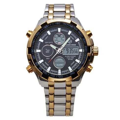 Relógio Digital Golden Hour