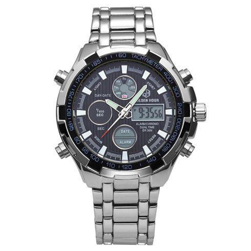 Relógio Digital Golden Hour Silver
