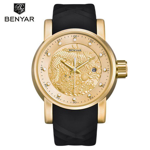 Relógio BENYAR Yakusa Dourado