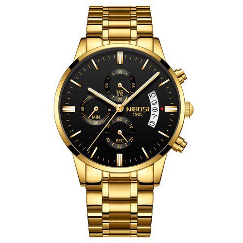 748575777aa Relógio Blindado NIBOSI Inox Funcional - Dali Relógios