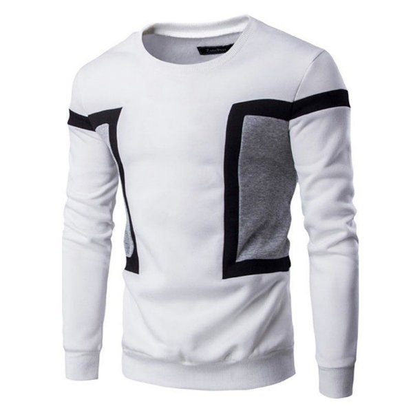 Suéter masculino com detalhe na lateral - BRANCO