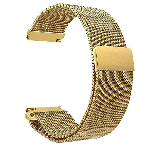 Pulseira em Aço inox Para Smartwatch Magnus