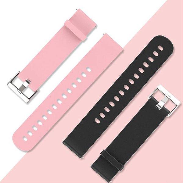 Pulseira em Silicone cor lisa Para Smartwatch Magnus