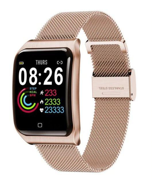 Relógio Smartwatch CF9 - IP68 - iPhone/Android - 100% Aço
