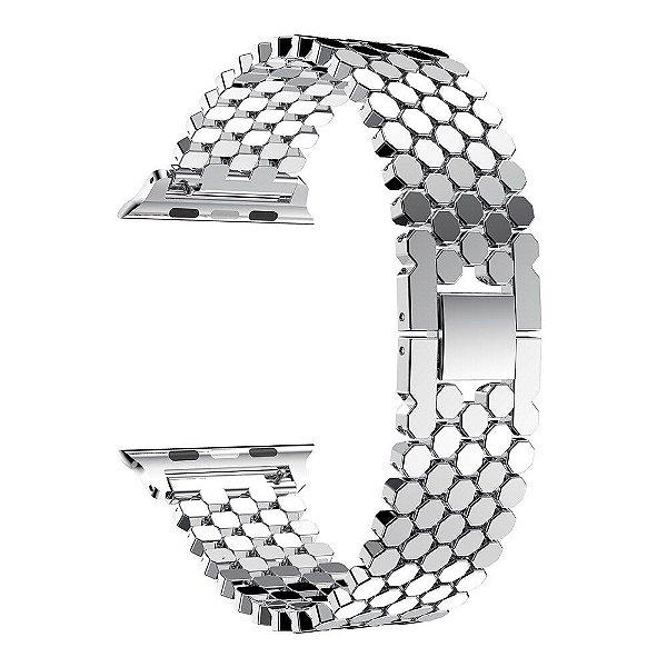 Pulseira para Apple Watch em Aço Inox - Todos os Tamanhos