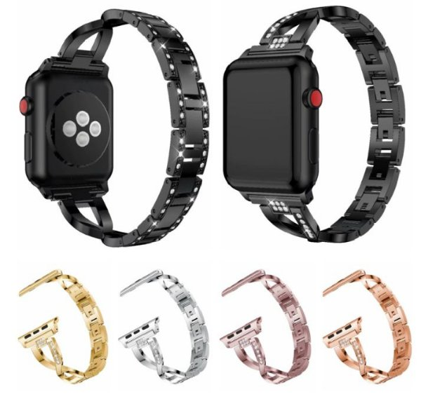 Pulseira para Apple Watch Feminina em Aço Inox - Todos os Tamanhos